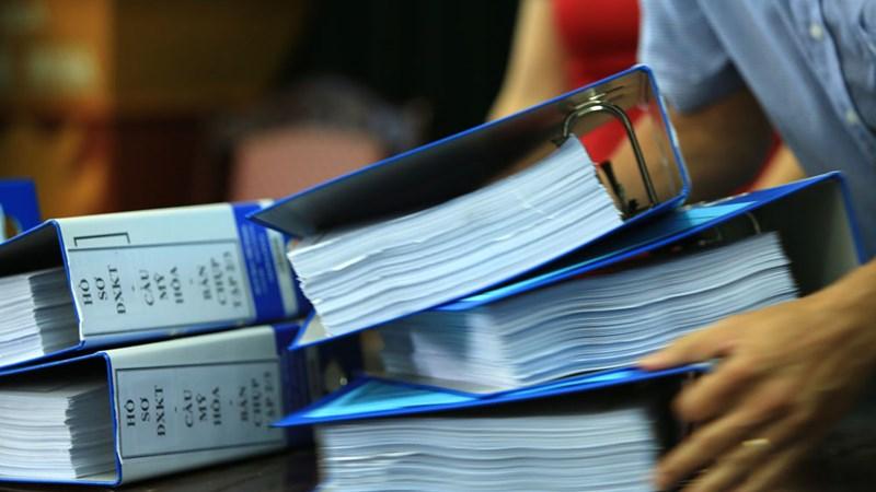 Hồ sơ trúng thầu phải bảo quản 20 năm sau khi công việc kết thúc