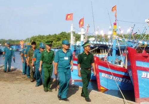 Dân quân tự vệ phối hợp bảo vệ biên giới, biển, đảo