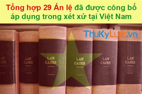 Cập nhật: Danh sách 29 án lệ đã được công bố áp dụng trong xét xử tại Việt Nam