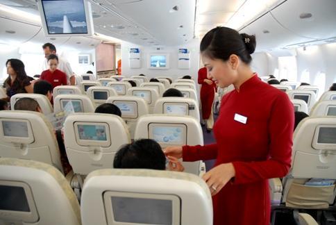 Khung giá dịch vụ cung cấp đồ ăn, đồ uống trên máy bay từ 15/3/2020