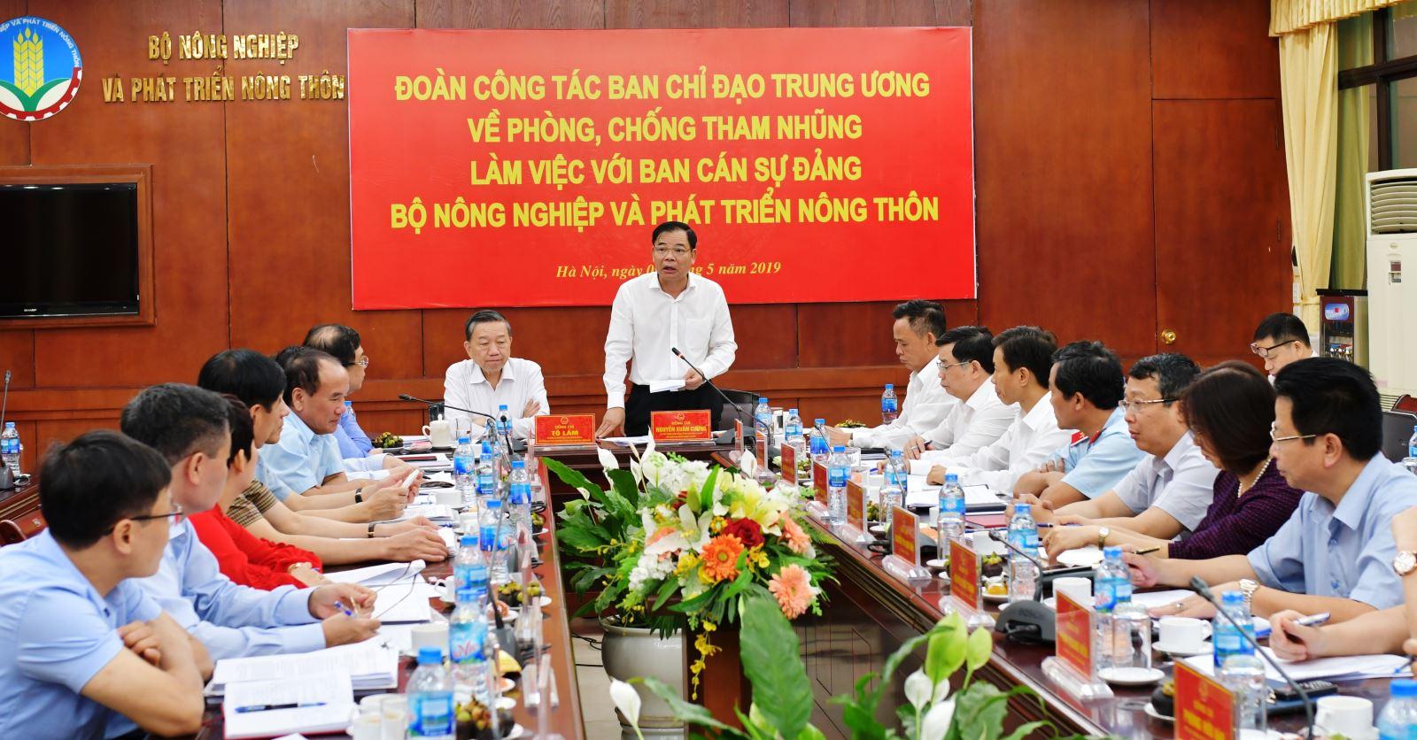 Cơ cấu tổ chức của Thanh tra Bộ Nông nghiệp và Phát triển nông thôn