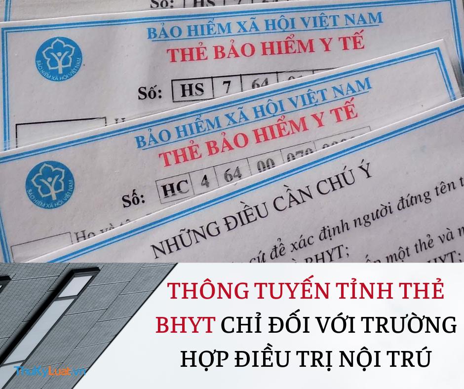 Thông tuyến tỉnh thẻ BHYT chỉ đối với trường hợp điều trị nội trú: Đừng hiểu nhầm!