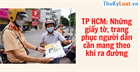 TP HCM: Những giấy tờ, trang phục người dân cần mang theo khi ra đường