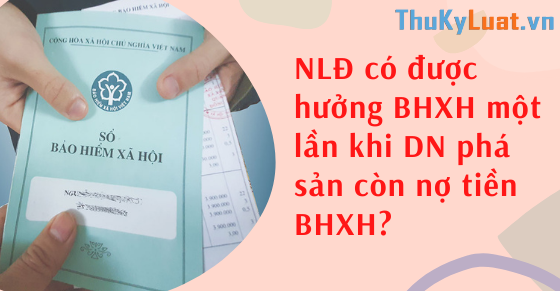 NLĐ có được hưởng BHXH một lần khi DN phá sản còn nợ tiền BHXH?