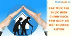 Các mức chi thực hiện chính sách trợ giúp xã hội thường xuyên