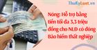 Nóng: Hỗ trợ bằng tiền tối đa 3,3 triệu đồng cho NLĐ có đóng BHTN