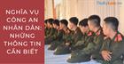 Nghĩa vụ Công an nhân dân: Những thông tin cần biết