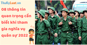 Nghĩa vụ quân sự năm 2022