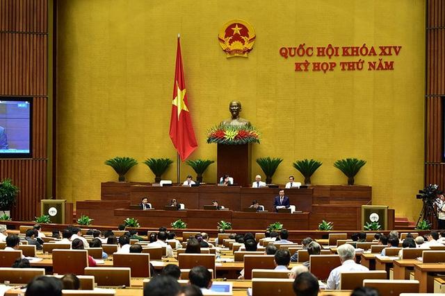 Toàn cảnh phiên họp Quốc hội sáng 26/5. (Ảnh: Việt Hưng).