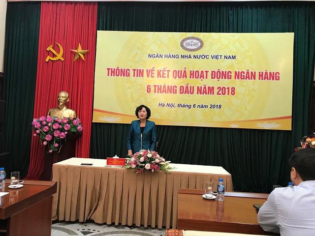 Bà Nguyễn Thị Hồng: Các chỉ tiêu tiền tệ cập nhật đến cuối tháng 5 phù hợp với những chỉ tiêu mà NHNN đề ra từ đầu năm.