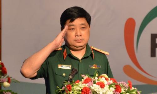 Thiếu tướng Hồ Quang Tuấn phát biểu khai mạc sự kiện. Ảnh: Vũ Anh.