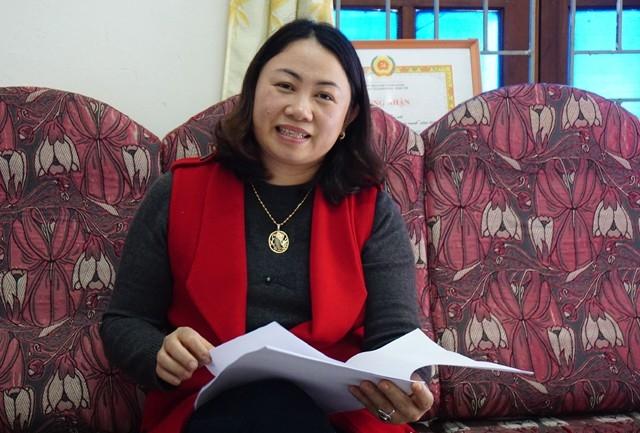 Bà Lô Thị Kim Oanh - Phó Chủ tịch Hội LHPN huyện Tương Dương: Nhờ sự vào cuộc quyết liệt của các cơ quan chức năng, tình trạng phụ nữ rời địa phương sang Trung Quốc đã giảm đáng kể nhưng vẫn còn rất nhức nhối
