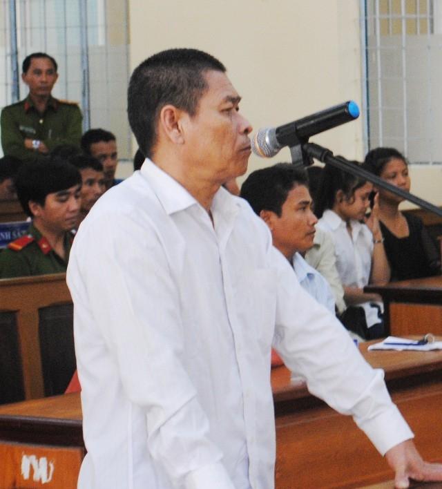 Bị cáo Hữu Bê tại phiên tòa.