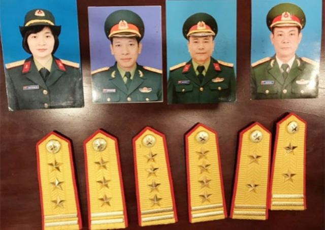 Các đối tượng: Huế, Sơn, Hải và Long giả danh sỹ quan quân đội lừa đảo hàng trăm tỷ.