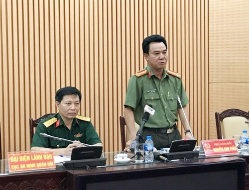 Công an TP Hà Nội tổ chức họp báo.
