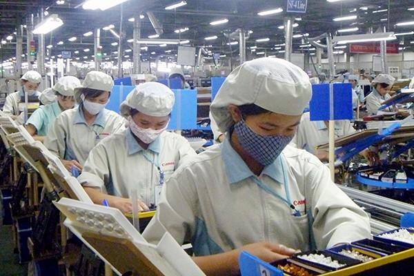 Dây chuyền sản xuất của Canon Việt Nam