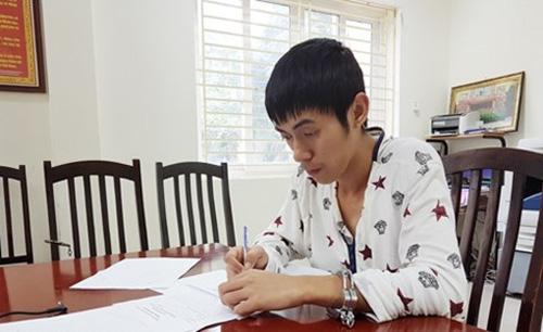 Cao Xuân Hùng tại thời điểm bị bắt giữ.