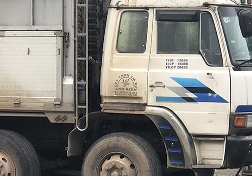 Chiếc xe tải do tài xế Hiếu điều khiển. Ảnh:Đức Hùng