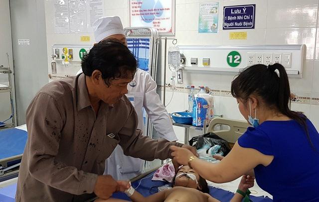 Các bé đang được điều trị tại Bệnh viện Nhi đồng TP Cần Thơ