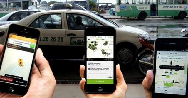 Cuộc chiến giữa taxi ứng dụng công nghệ kết nối và taxi truyền thống vẫn rất căng thẳng (Ảnh minh họa)