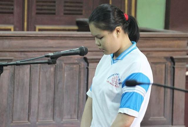 Nguyễn Thị Lượm tại phiên tòa phúc thẩm ngày 9/9/2016. Ảnh: Tân Châu.