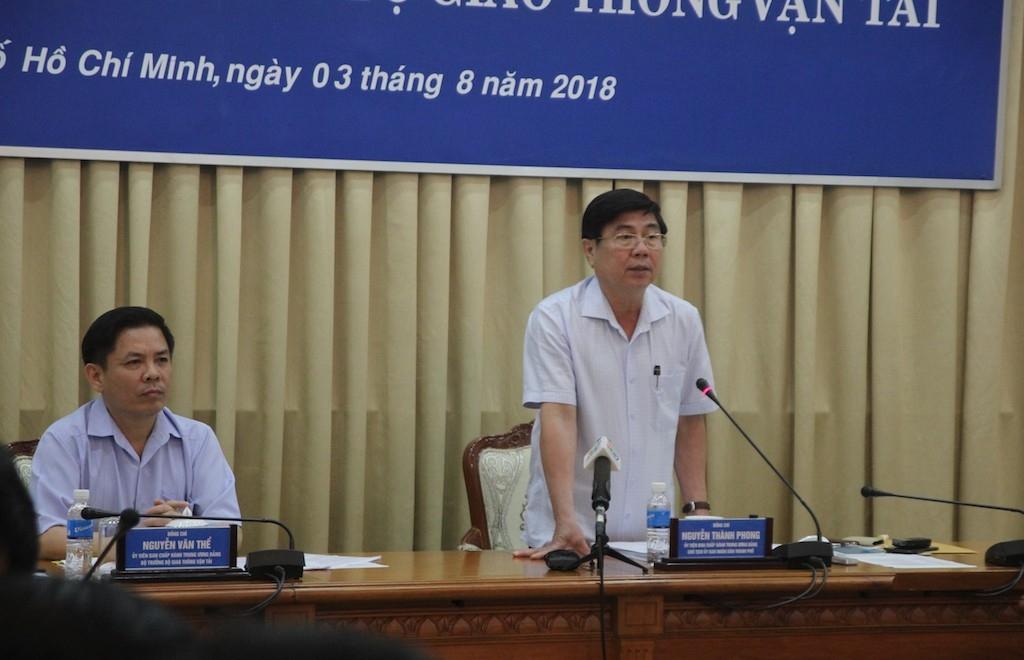 Chủ tịch UBND TPHCM Nguyễn Thành Phong cho biết rất nôn nóng với dự án đường sắt tốc độ cao TPHCM - Cần Thơ