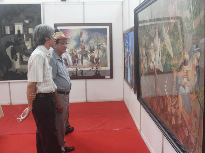 Khai mạc triển lãm mỹ thuật khu vực ĐBSCL lần thứ 23 - ảnh 1