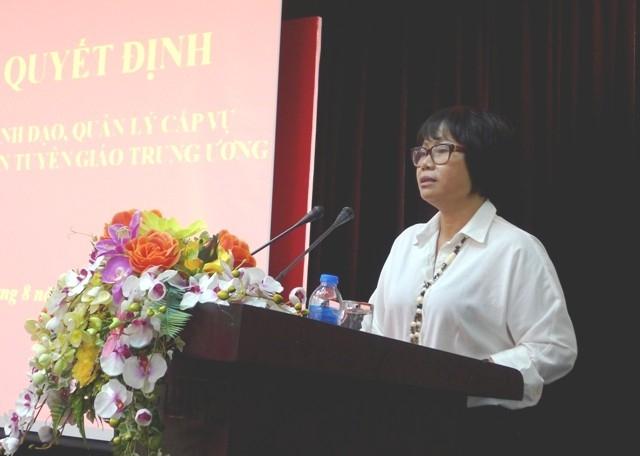 Bà Đỗ Thị Thu Hiên trở thành nữ Phó Tổng Biên tập đầu tiên của Báo điện tử Đảng Cộng sản Việt Nam.