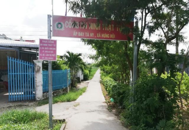 Đường vào ấp Đay Tà Ni, xã Hưng Hội, huyện Vĩnh Lợi (tỉnh Bạc Liêu), nơi xảy ra vụ án mạng kinh hoàng vào ngày 24/7.