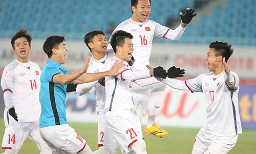 U23 Việt Nam viết lên câu chuyện kỳ tích ở giải U23 châu Á. Ảnh: Anh Khoa.