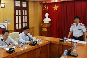 Phó Tổng Thanh tra Chính phủ Bùi Ngọc Lam phát biểu tại buổi công khai kết luận thanh tra cổ phần hoá Cảng Quy Nhơn.
