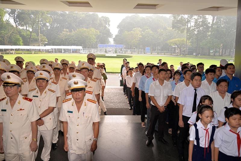 Trang trọng Lễ viếng nguyên Tổng Bí thư Đỗ Mười tại TP.HCM - ảnh 4
