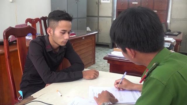 Đối tượng Nguyễn Văn Thông tại cơ quan điều tra