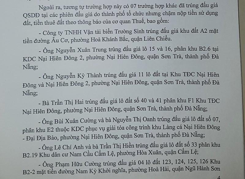 Đà Nẵng: Thêm 7 trường hợp bị hủy kết quả đấu giá - ảnh 1