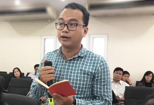 Ông Vương Gia Tuệ phát biểu tại hội nghị. Ảnh: BN.