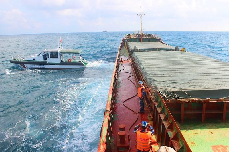 Tạm giữ tàu chở gần 3.000 tấn than ở Quảng Nam  - ảnh 1