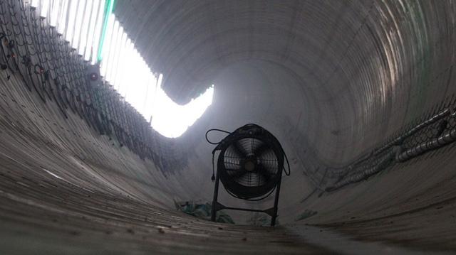 Quạt thông gió lắp đặt tạm thời theo từng đoạn hầm