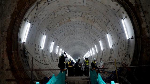 Đường hầm chiều đi dài 781m từ ga Ba Son đã hoàn thành