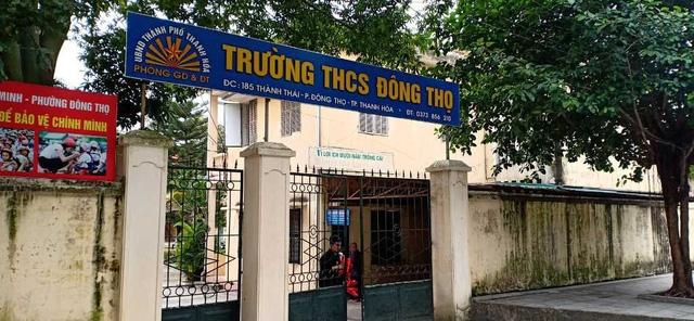 Trường THCS Đông Thọ- nơi bị phụ huynh tố lạm thu.