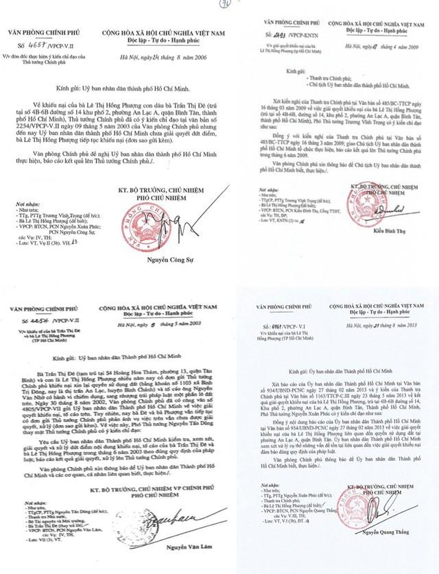 Trước đó, Văn phòng Chính phủ phát đi 5 thông báo chỉ đạo giải quyết vụ việc.