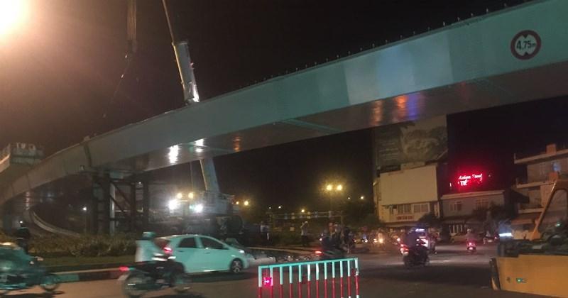 Lao dầm nhánh cuối cùng của cầu vượt ngã 7 Phạm Văn Đồng - ảnh 6