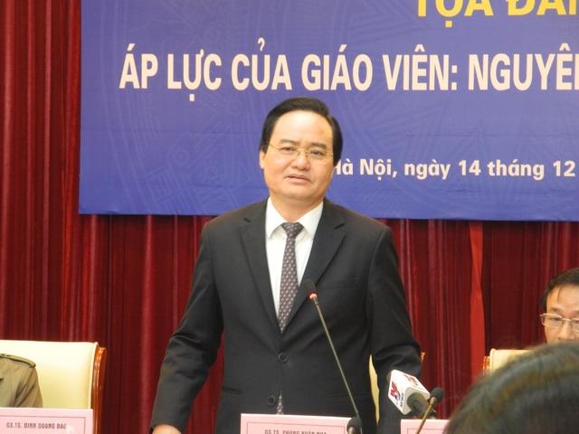 Bộ trưởng Phùng Xuân Nhạ tại tọa đàm.