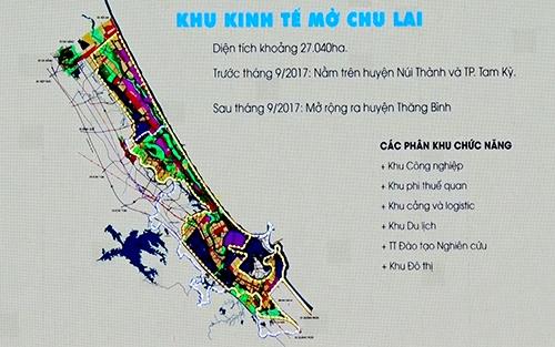 Quy hoạch khu kinh tế mở Chu Lai. Ảnh: Đắc Thành.