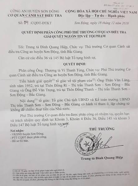 Bắc Giang: Chủ tịch thị trấn bị tố cáo tham ô, lập chứng từ khống rút tiền ngân sách - Ảnh 1.