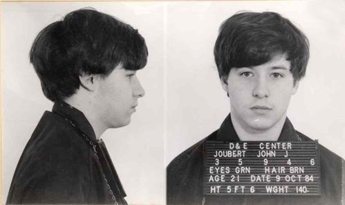Ảnh chụp John Joubert khi bị bắt.
