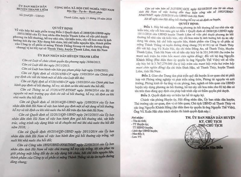 """Người dân khởi kiện UBND huyện Thanh Liêm: Sau phiên tòa, huyện """"án binh bất động"""" - Ảnh 1."""