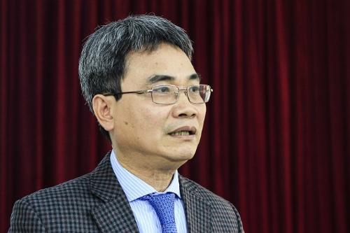 Cục trưởng Sở hữu trí tuệ Đinh Hữu Phí thông tin về hoạt động sở hữu trí tuệ năm 2017. Ảnh: Dương Tâm