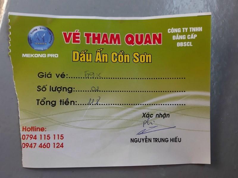 Công ty Đẳng Cấp ĐBSCL bán chui vé du lịch Cồn Sơn - ảnh 3
