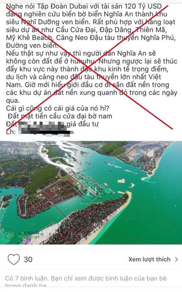 Xử lý người tung tin giả siêu dự án TP Quảng Ngãi trên mạng - Ảnh 1.