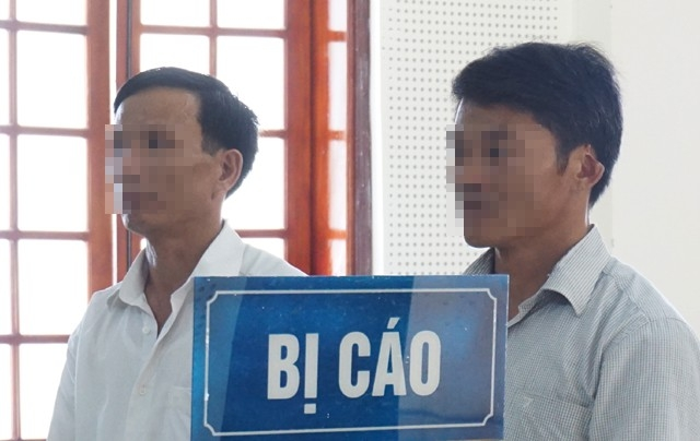 Hai bị cáo Nguyễn Duy Điều và Lê Văn Ánh tại phiên phúc thẩm